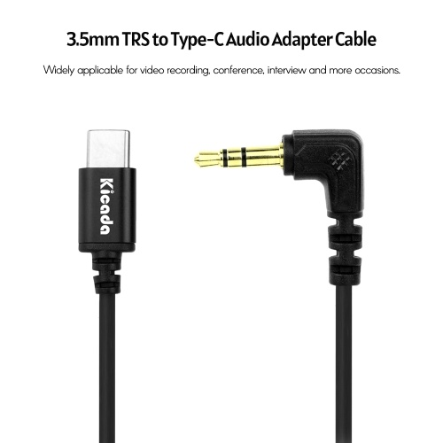 KICADA KL-DAS(S) 3.5mm TRS to Type-C Audio Adapter Cable