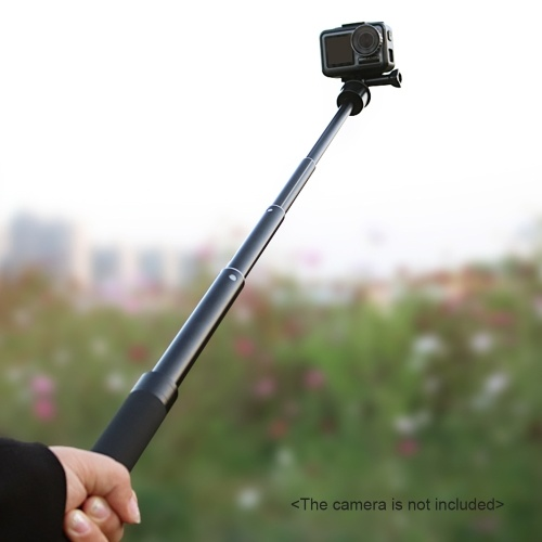 Sports Camera Selfie Stick Action Camera Vlog Bracket Aluminum Alloy Max. 760mm Extendable Length 1/4 Inch Screw with Sports Camera Mounting Adapter