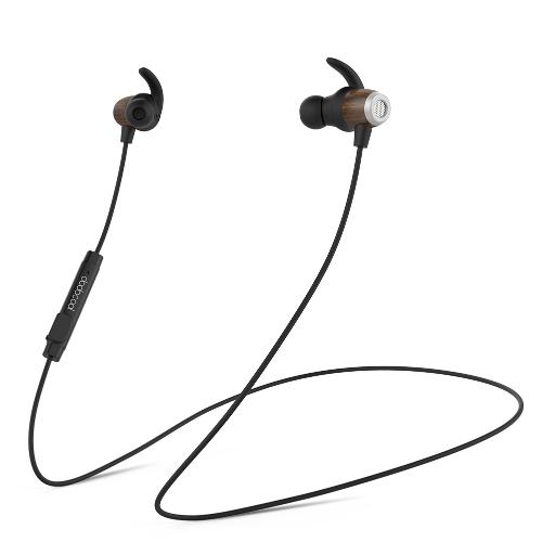 dodocool sem fio estéreo madeira IPX5 CVC 6.0 cancelamento de ruído no ouvido intra-auricular