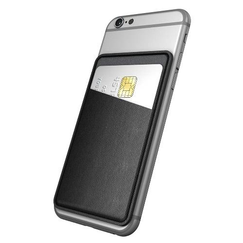 dodocool Universal Ultra-slim auto adesivo cartão de crédito titular stick-on carteira para Smartphones Black