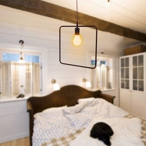 Chandelier Industrial Iron Chandelier Vintage Loft E27 200V-240V LED Light for Kitchen Living Room Bedroom Hallway Dining Room Warm White Light Black