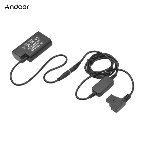 Andoer D-tap to DMW-BLJ31 Dummy Battery DMW-DCC16 DC Coupler Battery Replacement for Panasonic Lumix S1 S1M S1R S1RM S1H Cameras