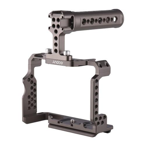 Комплект кожуха для камеры из алюминиевого сплава Andoer с заменой верхней ручки для видеоряга для Sony A7R III / A7 II / A7III