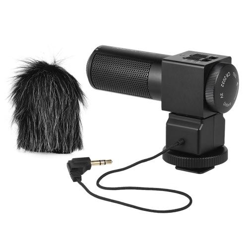 Takstar CGT-698 Pro Photographie Interview sur l'appareil photo Microphone Mic Enregistrement pour Nikon Canon Sony DSLR DV