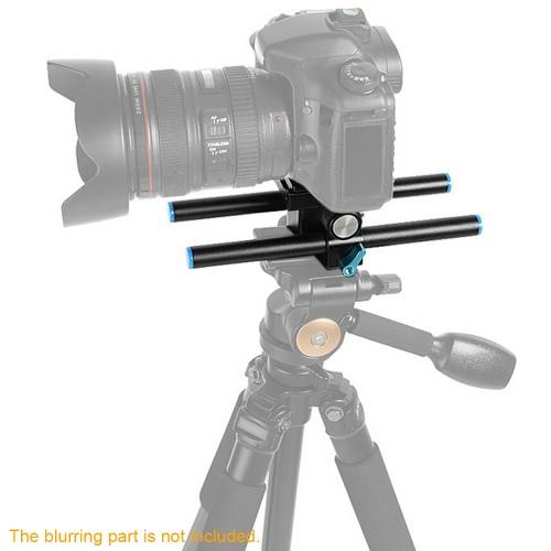 25cm Length DSLR Camera Baseplate 15mm Rail Rod Support System