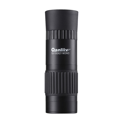 Mini Pocket 10-100X21 All-optical Continuous Zoom HD Monocular Telescope with FMC Green Film BAK4 Prism 2-2000m Optimal Distance with 1/4