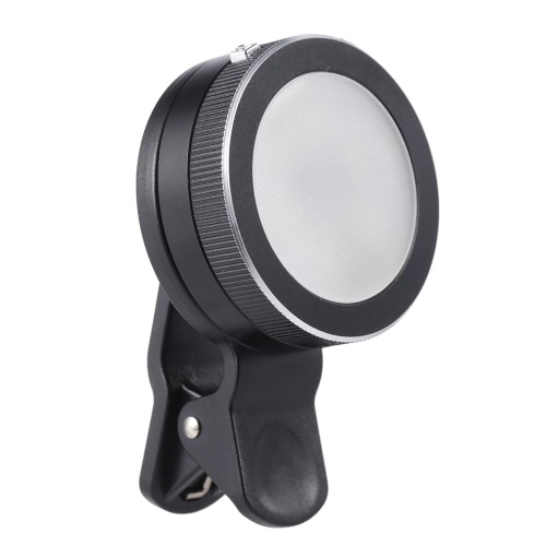 Mini Portable Clip-on Lightweight 3-mode 1.2W CRI90+ LED Spotlight Fill-in Light for iPhone Samsung Galaxy Smartphone Mobile
