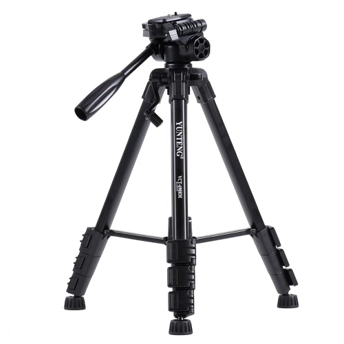 YUNTENG690 Portable Aluminum Alloy Lightweight Tripod Load Capacity 3KG with Universal Smartphone Mount for Sony ILDC Digital Camera