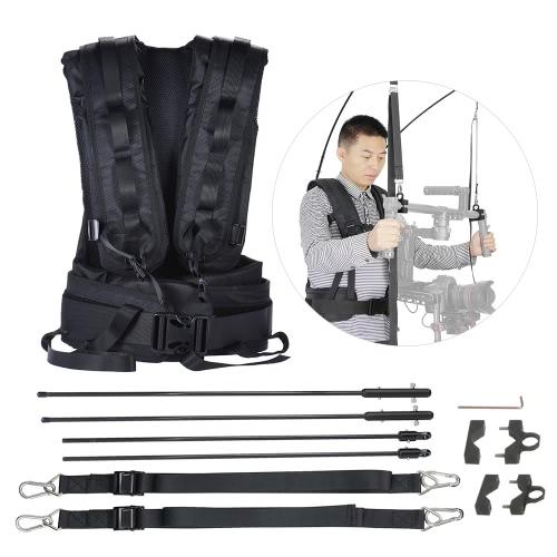 V9 Video DSLR Camera Photography Stabilizer Load Vest Support Kit for DJI Ronin / DJI Ronin-M 3-Axis Capacity 4kg-11kg
