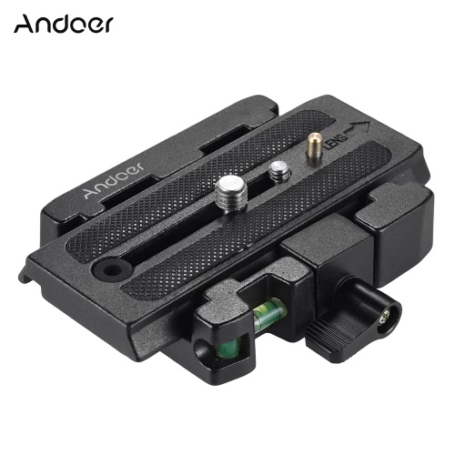 Andoer Video Camera Trip Adapter Quick Adapter z adapterem Quick Release Plate kompatybilny z głowicą Manfrotto Head