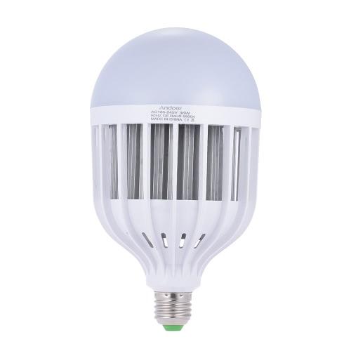 Andoer Photo Studio Photography 36W LED Lamp Light Bulb 72 Beads 5500K E27