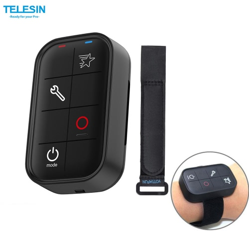 TELESIN Smart Wireless Wi-Fi Remote Control Water-resistant for GoPro Hero 5 4/3+/3/ 4 Session Sports Action Camera