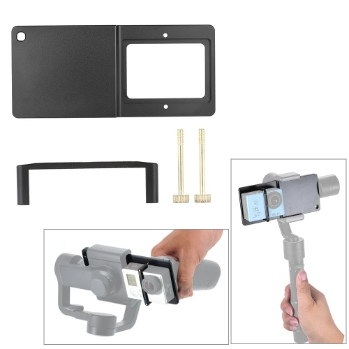 Action Camera to Gimbal Accessories Adapter Plate Mount for OSMO Zhiyun Smooth-C /Smooth-II Feiyu G4 Plus /SPG Live /G4 Pro Gimbals Work for GoPro Xiaoyi SJCAM and Other Action Camera of Similar Dimension