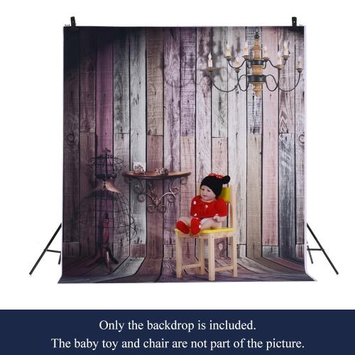 1,5 * 2m / 4,9 * Tło 6.5ft Fotografia tle Computer Printed lampek Drewniane Podłogi dla dzieci Kid Dziecko Noworodek Pet zdjęcie portret studio fotografowania