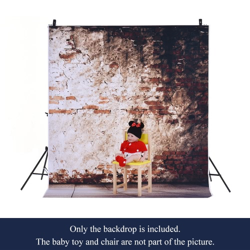 Image of 1.5 * 2m Photography Background Backdrop Computer Printed Classic Old Brick Pattern