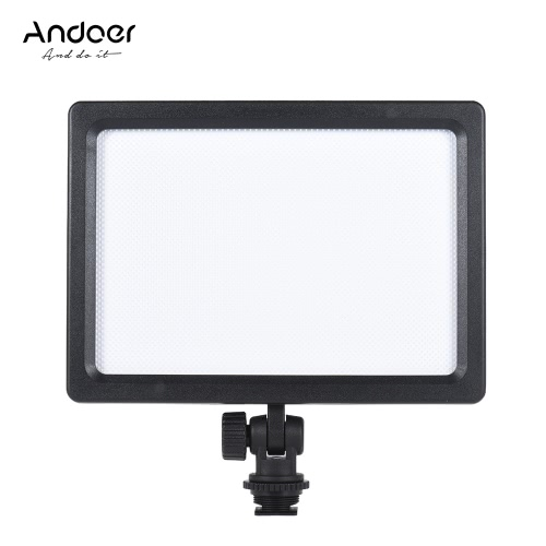 Andoer CM-180D 12W Dimmable Bi-color 3200K - 5600K LED Video lámpara de panel de luz con pantalla LCD para Canon Nikon Sony DSLR ILDC cámara de vídeo para niños Kid Baby Wedding Entrevista Photogrpahy