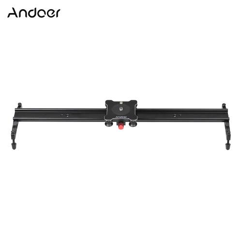 """Andoer 80cm / 32 """"4 łożyska Suwak kamery Suwak kolejowy Suwak aluminiowy stabilizator wideo do aparatów Canon Nikon Sony Kamery wideo Maksymalna nośność 5 kg"""