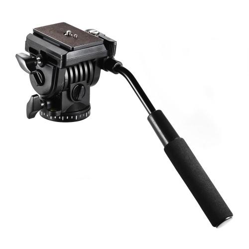 Andoer ABS 360 ° Fluido Arrastrar Vídeo Acción Cabeza Panorámica Hidráulica Amortiguación Fotográfica Cabeza para Canon Nikon Sony DSLR Cámara Videocámara para Trípode Monopod Slider Filmación Filmación