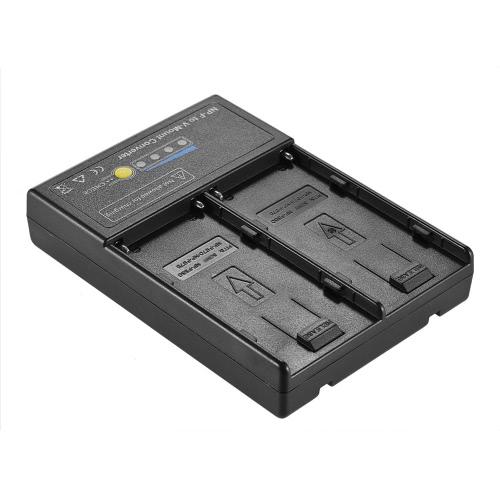 Placa adaptadora de conversor de bateria Andoer NP-F para V-mount com slot duplo para série NP-F550 NP-F750 NP-F970