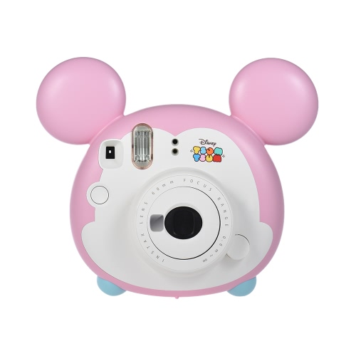 Fujifilm Instax Mini TSUMTSUM Instant Film Camera with 10 Sheet Film Close-up Lens Strap Auto Metering Selfie Mirror Children Birthday Christmas Gift