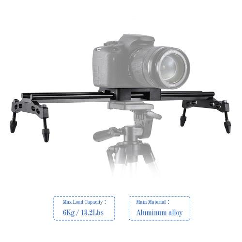 Andoer 40cm/ 15.7in Portable Aluminum Alloy Camera Track Dolly Slider Stabilizer