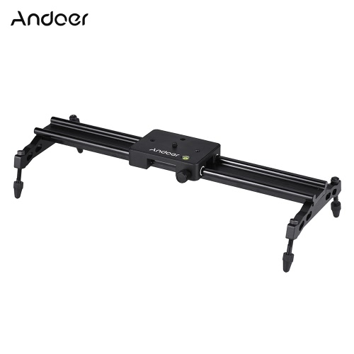 Andoer 40cm/ 15.7in Portable Aluminum Alloy Camera Track Dolly Slider