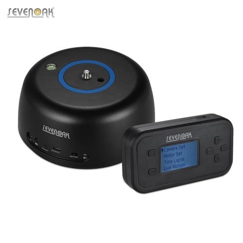 Sevenoak SK-EBH04 inalámbrico panorámico de tiempo electrónico lapso de vídeo Tripod bola cabeza incorporada en la batería recargable con control remoto titular del teléfono para Canon / Nikon / Sony / Pentax DSLRs cámaras de acción Smartphone