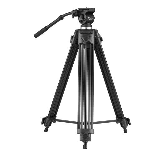 Weifeng WF-717 Caméra vidéo en alliage d'aluminium professionnelle 1,8 m Caméra vidéo