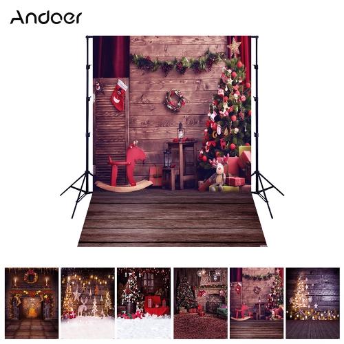 Andoer 1,5 * 2 metry / 5 * 7 stóp Święta Bożego Narodzenia Temat tła Fotografia Sceneria