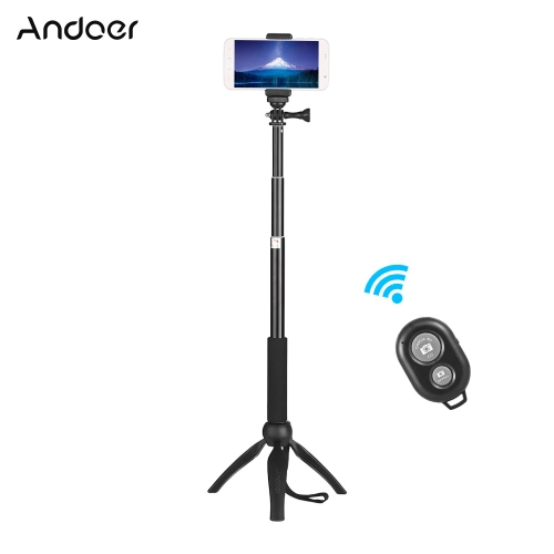 Andoer Phone Live Show Kit Including Mini Tabletop Tripod Selfie Stick Phone Holder Remote Controller