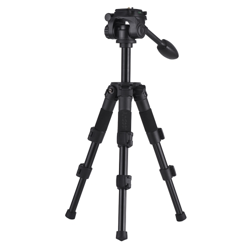 Andoer Q166S Portable Mini Aluminum Alloy 3-Section Photography Tabletop Tripod