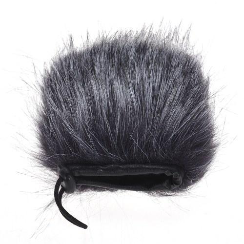 EY-M24 Furry Outdoor Mikrofon Windschutzscheibe Kunstpelz Muff
