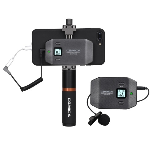 COMICA CVM-WS50(B) 6-Channel UHF Wireless Smartphone Lavalier Microphone System
