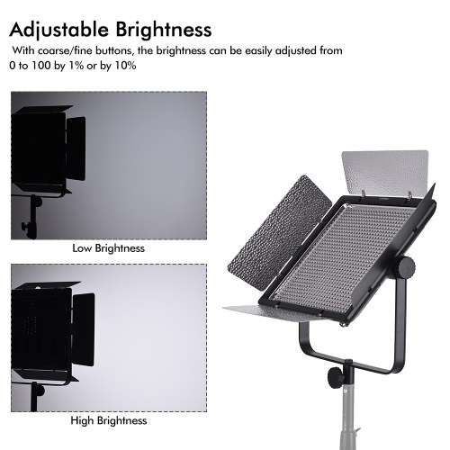 YONGNUO YN10800 5500K Mono-color Dimmable LED Video Light CRI95+ Support APP Control with Wireless Remote Controller Color Temperature Filters for Micro Film MV Recording Portrait Wedding Interview Product Photography