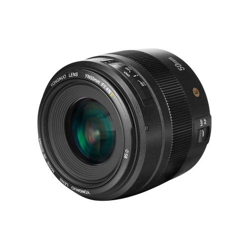 YONGNUO YN50mm F1.4N E Lente Padrão Prime F1.4 Abertura Grande Visualização em Vivo Focagem Foco Automático / Manual para Nikon D5 / D4 / D3 / D810 / D800 / D750 / D300 D850 D700 D700 D600 D600 D500 D500 D7000 D7000 D7000 D5600 D5600 D5500 D5300 D5200 D5100 e mais câmeras