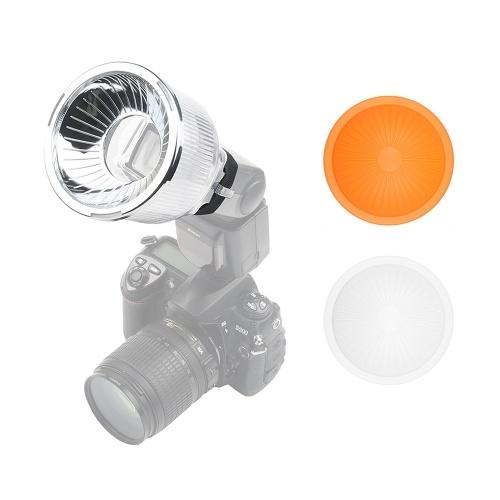 Diffusore flash universale Lambancy Dome con cupole argento bianco argento per Canon 420EX 430EX 550EX 580EX 600EX per Nikon SB600 SB700 SB800 SB900 SB910 per Sony HVL-F43AM