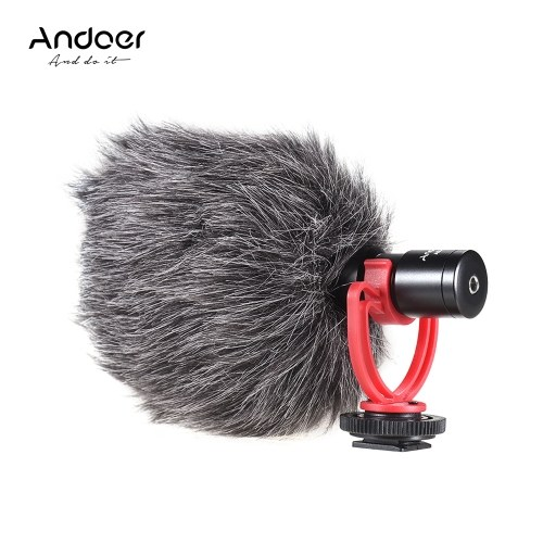 Andoer AD-M2 Cardioid Directional Condenser Microphone Metal Construction Video Mic 3.5mm Plug for iPhone 6/ 6plus for Samsung Huawei Smartphone Tablet PC for Canon Nikon Sony DSLR Camera Consumer Camcorder Audio Recorder