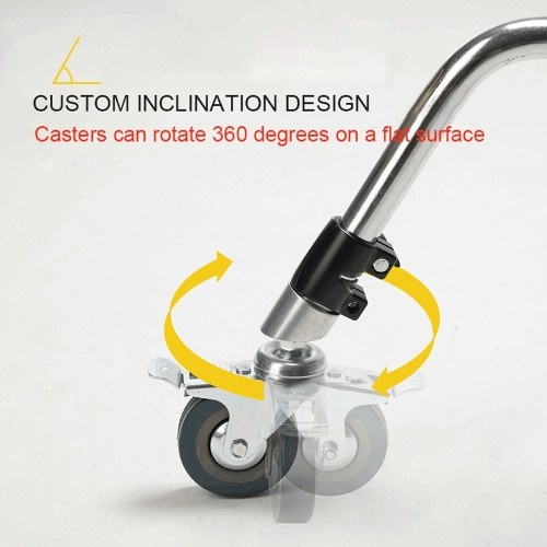 Professional 3 Wheels Multi-function Photography Studio Heavy Lighting Century C Stand Special Wheel Photography Accessories