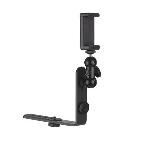Вертикальная подставка для камеры L-образной формы + гибкая подставка для смартфона на шаровой головке + регулируемый держатель для телефона