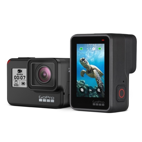 GoPro HERO7 Black 4K Sports Action Camera 12MP 170° Wide Angle LCD Touchscreen 10 Meters Waterproof Video Stabilization Timelapse Live Streaming