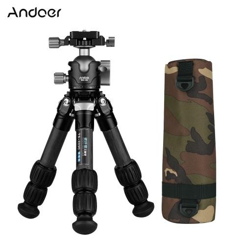 Andoer Portable Desktop Carbon Fiber Travel Tripod