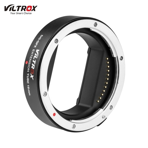 Viltrox DG-GFX 18mm Automatic Electronic Macro Extension Tube Adapter Ring Support TTL Auto Focus AF AE Mode for GFX Mount Lens for Fuji Fujifilm G-mount Medium Format Lenses for Fuji Fujifilm G-mount GFX Medium Format Cameras