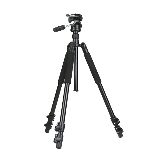 360パノラマボールヘッドクイックリリースプレート付きプロフェッショナルDSLRアルミ合金カメラ三脚一脚NikonソニーDSLRカメラマックス用伸縮3セクション。高さ67インチ15kgを積む