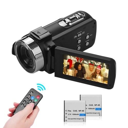 Filmadora portátil com câmera de vídeo digital 4K FHD