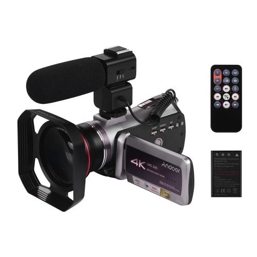 Andoer HDV-AZ50 Portable Real 4K 30FPS WiFi Цифровая видеокамера видеокамера