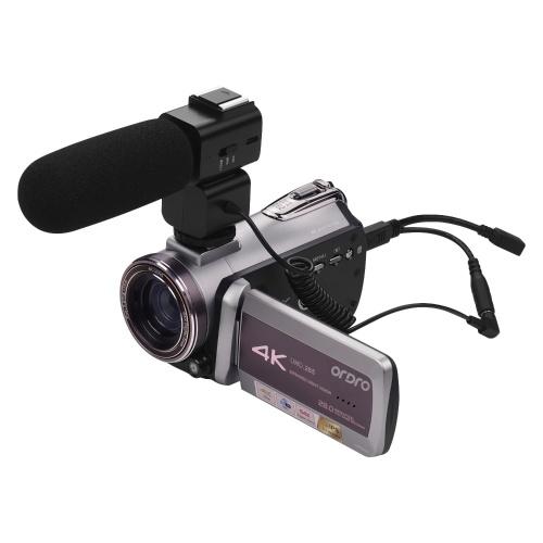 Портативная цифровая видеокамера ORDRO HDV-AZ50 с реальным разрешением 4K UHD 30FPS WiFi