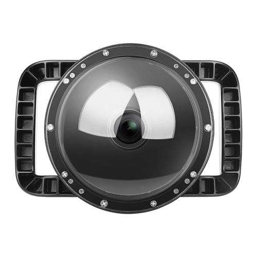 SHOOT 6 Zoll Dual Handheld wasserdichter Dome Port Tauchgehäuse Kompatibel mit DJI Osmo Action