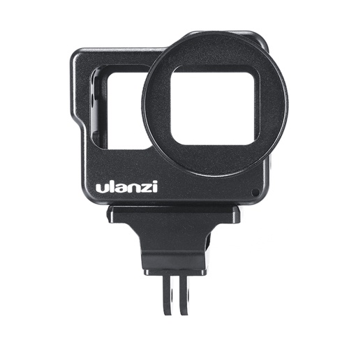 ULANZI Camera Cage with 2 Cold Shoes 52mm Filter Interface Compatible with GoPro Hero 7/6/5