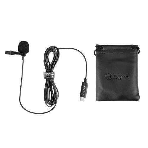 BOYA BY-M3-OP Aufsteckbares Lavalier-Ansteckmikrofon Digitales omnidirektionales Mikrofon USB-Typ-C-Stecker Kompatibel