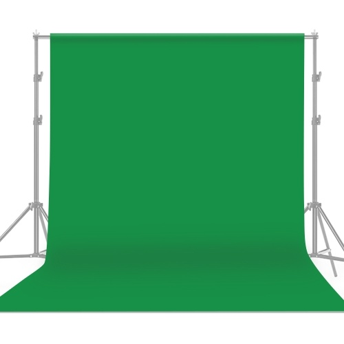 Andoer 2 * 3m / 6.6 * 10ft Professional Green Screen Backdrop Studio Photography Background Washable Durable Polyester-Cotton Fabric Seamless One-Piece Design for Portrait Product Shooting